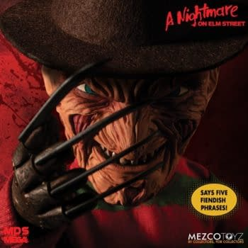 Mezco Toyz Releases Mega Scale Talking Freddy Kruger Figure