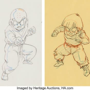 Artwork of Iconic Dragon Ball Z Duo of Gohan & Krillin Hits Auction