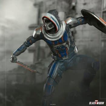 Taskmaster Kicks Off Iron Studios New Black Widow Movie Statues