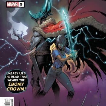 Cover image for MAY210642 BLACK KNIGHT CURSE OF THE EBONY BLADE #5 (OF 5), by (W) Simon Spurrier (A) Sergio Davila (CA) Iban Coello, in stores Wednesday, July 28, 2021 from MARVEL COMICS