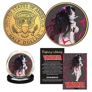Cover image for VAMPIRELLA BESCH GOLD JFK HALF DOLLAR