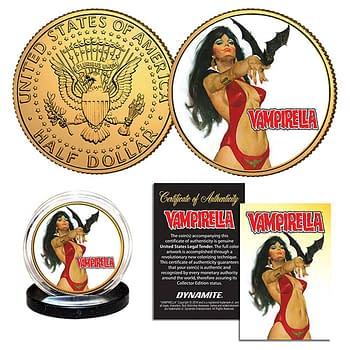Cover image for VAMPIRELLA GONZALES GOLD JFK HALF DOLLAR