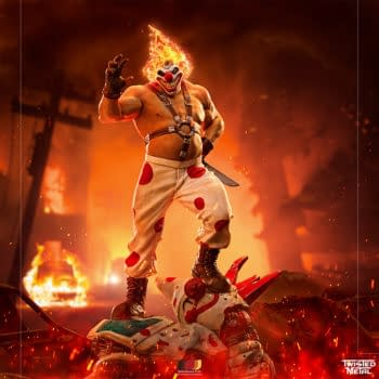 It's Time For More Twisted Metal With Sweet Tooth Iron Studios Statue