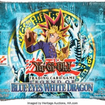 Yu-Gi-Oh! 1st Ed Legend Of Blue Eyes Box Auctioning At Heritage