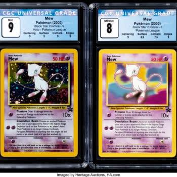 Pokémon TCG Black Star Promo Mew #8 & #9 On Auction At Heritage
