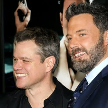 Matt Damon and Ben Affleck at the Los Angeles premiere of 'Live By Night' held at the TCL Chinese Theatre in Hollywood, USA on January 9, 2017 (Tinseltown / Shutterstock.com)