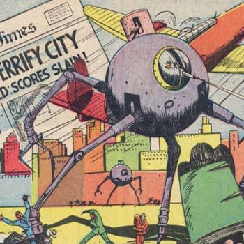 "The Flame #1 ""Atomic Generator"" story (reprinted from Wonderworld Comics #11)."
