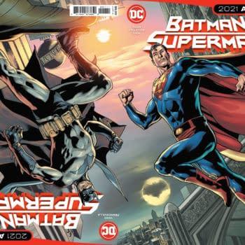 Cover image for BATMAN SUPERMAN 2021 ANNUAL #1 CVR A BRYAN HITCH CONNECTED FLIP