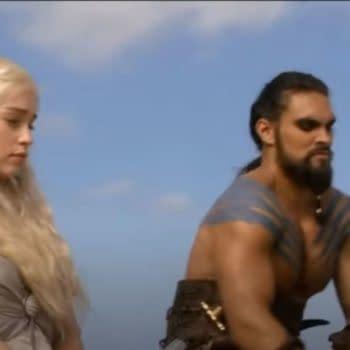 Game of Thrones Stars Emilia Clarke, Jason Mamoa Reunite for Birthday