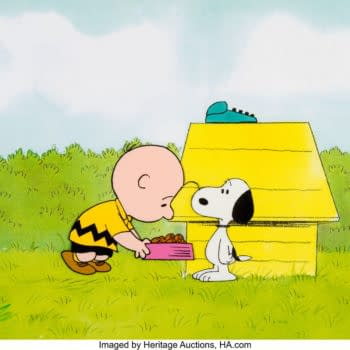 Snoopy and Charlie Brown Animation Cel Hits Auction