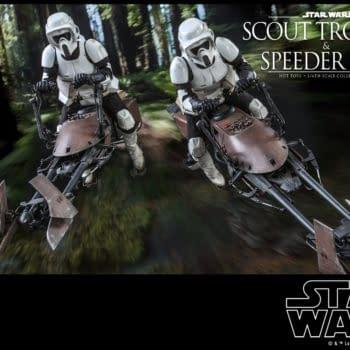 Star Wars Scout Trooper and Speeder Bike Bundle Arrives At Hot Toys