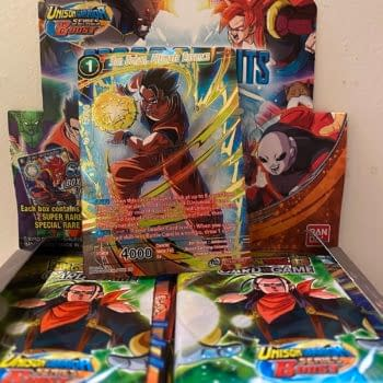 Pulling a God Pack from a Dragon Ball Super: Cross Spirits Booster Box