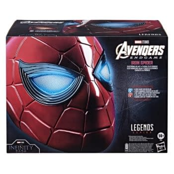 Hasbro Announces Replica Spider-Man Endgame Iron Spider Helmet