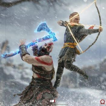 God of War Kratos and Atreus Statue Coming to Iron Studios