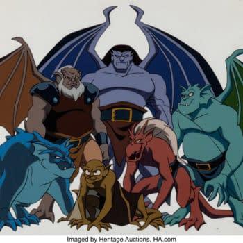 Disney's Gargoyles Original Production Cel On Auction Today