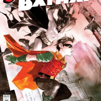 The cover to Robin & Batman #1, by Jeff Lemire and Dustin Nguyen, hitting stores from DC Comics in November
