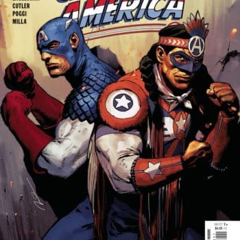 Cover image for JUN210696 UNITED STATES OF CAPTAIN AMERICA #3 (OF 5), by (W) Darcie Little Badger, Christopher Cantwell (A) Dale Eaglesham, David Cutler (CA) Gerald Parel, in stores Wednesday, August 25, 2021 from MARVEL COMICS