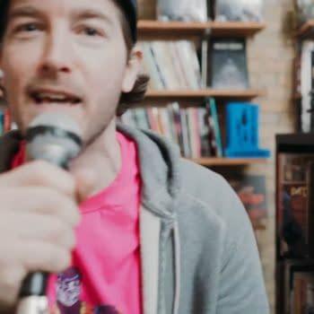 "Wordburglar Performs ""Living Between Wednesdays"" At Sidekick Comics"