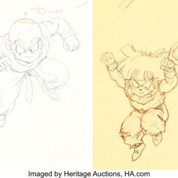 Original Dragon Ball Z Art Up for Auction Features Gohan & Krillin