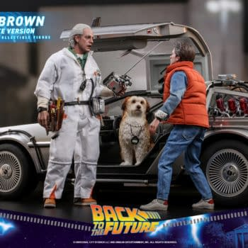 Back to the Future Doc Brown Travels Through Time with Hot Toys