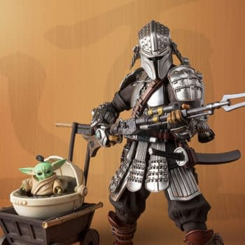 The Mandalorian Travels Back in Time with Ronin Bandai Figure