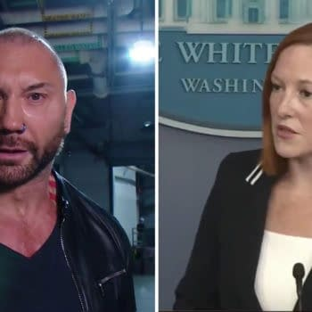 In a reversal of norms, Dave Bautista has a lot of love for White House Press Secretary Jen Psaki