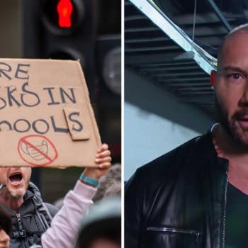 Dave Bautista has no love for anti-maskers, but he does appreciate kids who flip them the bird.