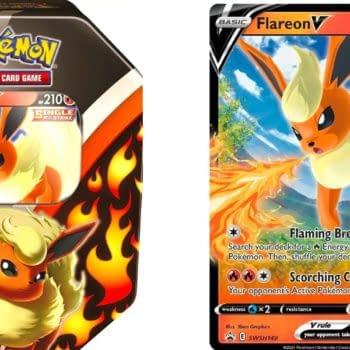 Pokémon TCG Product Review: Eevee Evolution Tin: Flareon