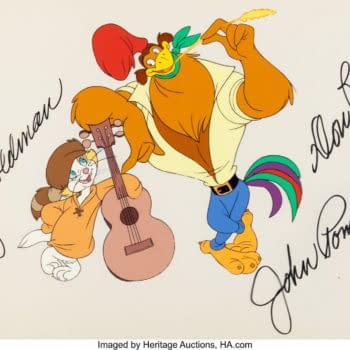 Don Bluth's Rock-A-Doodle Publicity Cel Hits Auction