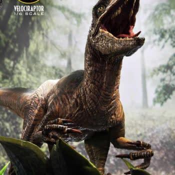 Jurassic Park Velociraptor Attack Captured with Prime 1 Studio