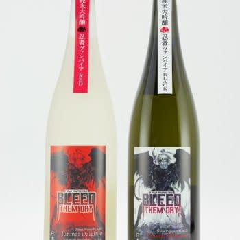 Asahara Shuzo & Yoshitaka Amano Serve Up Bleed Them Dry Sake