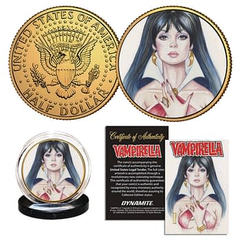 Cover image for VAMPIRELLA GOLIGHTLY CROWDFUNDER EXC GOLD COIN