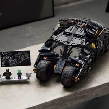 The Dark Knight Trilogy Batmobile Tumbler Revealed by LEGO
