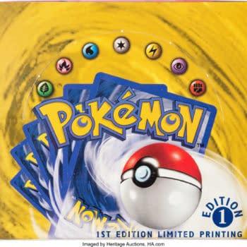 Pokémon TCG Sealed Base Set 1st Ed Box On Auction At Heritage