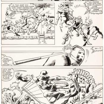 Five Pages Of Frank Miller Original Artwork- Batman, Ronin, Daredevil