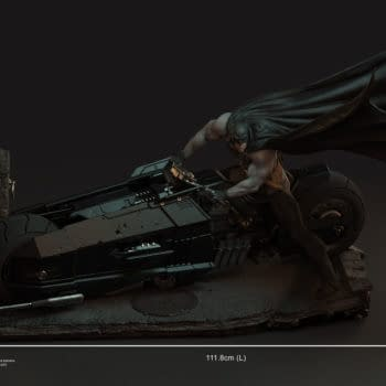 XM Studios Takes to the Streets with New Batman Batcycle Statue