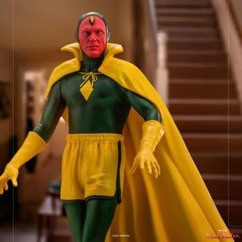 Iron Studios Announces New WandaVision Statue with Halloween Vision