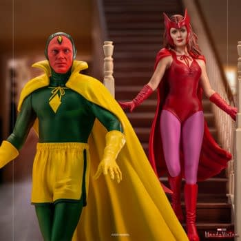 Scarlet Witch Celebrates Halloween with Iron Studios WandaVision Statue