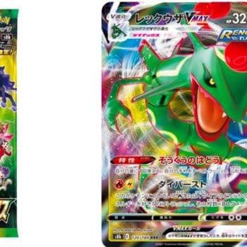 Japanese Pokémon TCG: VMAX Climax Includes New Rayquaza VMAX