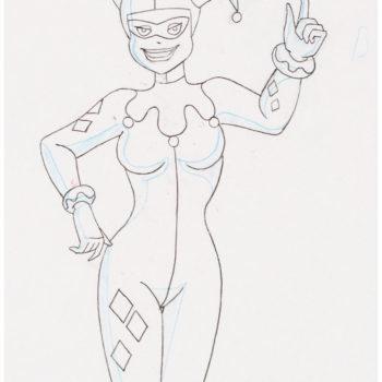 Batman: TAS Harley Quinn Animation Drawing Hits Auction