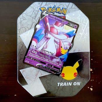 Pokémon TCG: Celebrations Early Opening: Dark Sylveon V Tin