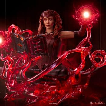 Scarlet Witch Explore to Darkhold with Iron Studios WandaVision Statue
