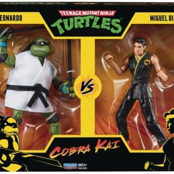 Playmates Officially Reveals TMNT x Cobra Kai 2-Packs Figure Sets