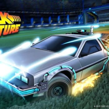 Back To The Future's DeLorean Returns To Rocket League
