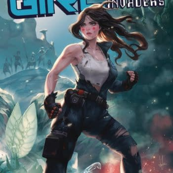 Cover image for MACHINE GIRL TP VOL 02 SPACE INVADERS (RES) (MR)