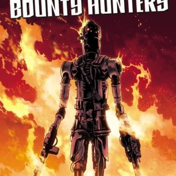 Cover image for AUG211243 STAR WARS WAR OF THE BOUNTY HUNTERS IG-88 #1, by (W) Woo Chul Lee (A) Guiu Vilanova (CA) Mahmud A. Asrar, in stores Wednesday, October 27, 2021 from MARVEL COMICS