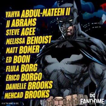 Todd McFarlame, Donald Mustard and JJ Abrams at DC Fandome