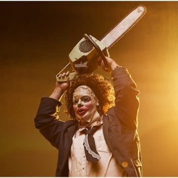 Leatherface Wear His Pretty Woman Mask in New PCS Collectibles Statue