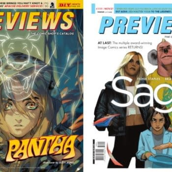 Saga #55 and Pantha #1 On Next Week's Diamond Previews Covers