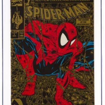 Todd McFarlane's Gold Spider-Man CGC 9.8 At Auction